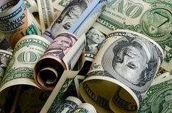 Bargeld US-Dollars Lizenzfreie Stockbilder