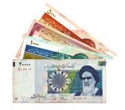 Bargeld vom Iran lizenzfreie stockfotografie