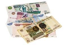 Bargeld von Russland Rubel stockfoto