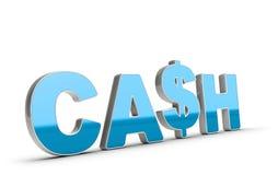Bargeld-Wort-und Dollar-Symbol Lizenzfreie Stockfotos