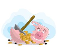 Bargeldeinsparungen stock abbildung