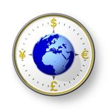 Bargeldkompaß mit Kugel Lizenzfreies Stockfoto