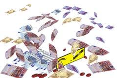 Bargeldkrise und -aufblasen Stockfotografie