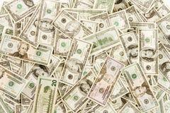 Bargeldplan obenliegend Stockfoto