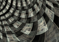 Bargeldumlauf-Schaffungs-Reichtums-Gewinn-Hintergrund Stockfotografie