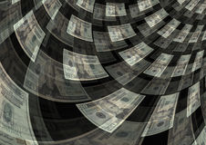 Bargeldumlauf-Schaffungs-Reichtums-Gewinn-Hintergrund Lizenzfreies Stockbild