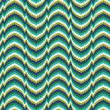Bargello. A 12x12 inch Bargello needlepoint pattern in blue, turquoise, and green Stock Photography