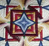 Bargello Needlepoint Pillow Detail Stock Photography