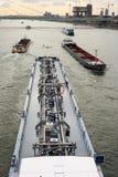 barges река rhine стоковое изображение