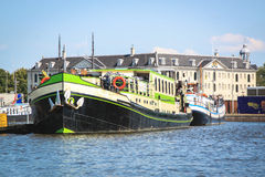 Barges, Amsterdam. Royalty Free Stock Image
