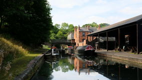 Barges at The Black Country Living Museum 2 Stock Photography