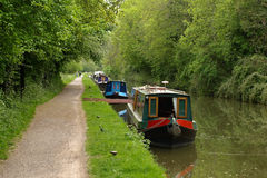 Barges on a Canal Stock Images