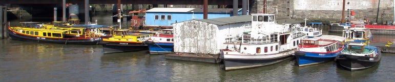 Barges de travail Photographie stock libre de droits