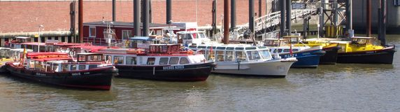 Barges de travail Photo libre de droits