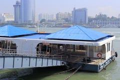 Barges of gulangyu docks Royalty Free Stock Image