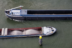 Barges passing Stock Photo