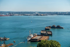 Barges In Port Of Tacoma Stock Images