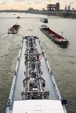 Barges on river Rhine Stock Image