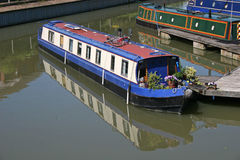 Barges in Tewkesbury marina Royalty Free Stock Photo