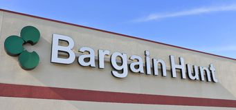 Bargin Hunt Store Sign Stock Image