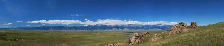 Barguzin valley. Summer landscape Royalty Free Stock Photo
