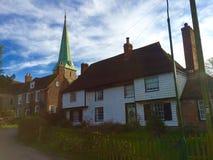 barham的教会在坎特伯雷附近在肯特 库存照片