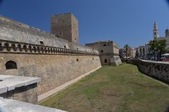 Bari, Apulia, Italy. View of the medieval city castle. Stock Image