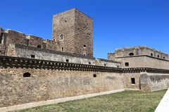 Bari Castle. Bari, Italy - Medieval Castle. Full name: Castello Normanno-Svevo Royalty Free Stock Photography