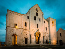Bari Cathedral royaltyfri fotografi