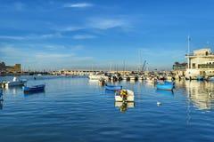 Bari, el puerto meridional de Italia Fotos de archivo libres de regalías