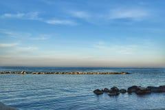Bari, el puerto meridional de Italia Imagen de archivo libre de regalías