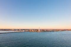 Bari en Italie Vue de bord de mer au port de marina Photo stock