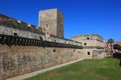Bari, grodowy Castello Svevo obraz royalty free