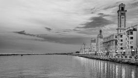 Bari in hdr. 9 pictures took at the sunset for this HDR Royalty Free Stock Photography