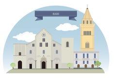 Bari, Italia ilustración del vector