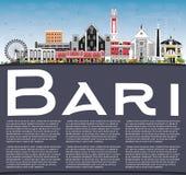 Bari Italy City Skyline avec Gray Buildings, le ciel bleu et la copie S illustration stock