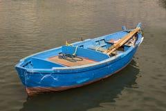 Bari Italy Fisherman`s Boat. In the sea Stock Photos