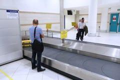 Baggage reclaim carousel stock photos