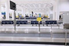 Airport baggage carousel stock photo
