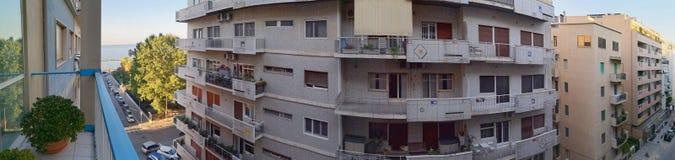 Bari, italy: panarama of 1950s apartments royalty free stock photos