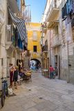 Arco Basso street in the old town of Bari Royalty Free Stock Photography
