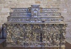 Bari Italy Silver Altar Imágenes de archivo libres de regalías