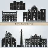 Bari landmarks and monuments Royalty Free Stock Image