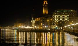 Bari night seafront Stock Image