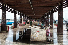 Bari old fish market Royalty Free Stock Photo