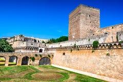 Bari, Puglia, Italy - Castello Svevo. Bari, Italy. Swabian Castle, Castello Svevo, medieval architecture of Puglia capital city stock image