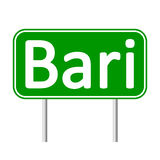 Bari road sign. Royalty Free Stock Photography