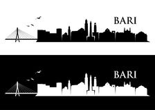 Bari skyline - Italy - vector illustratio Royalty Free Stock Photos