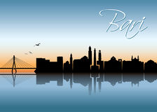 Bari skyline - Italy - vector illustration Stock Images