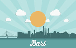 Bari skyline - Italy - vector illustration Royalty Free Stock Photography
